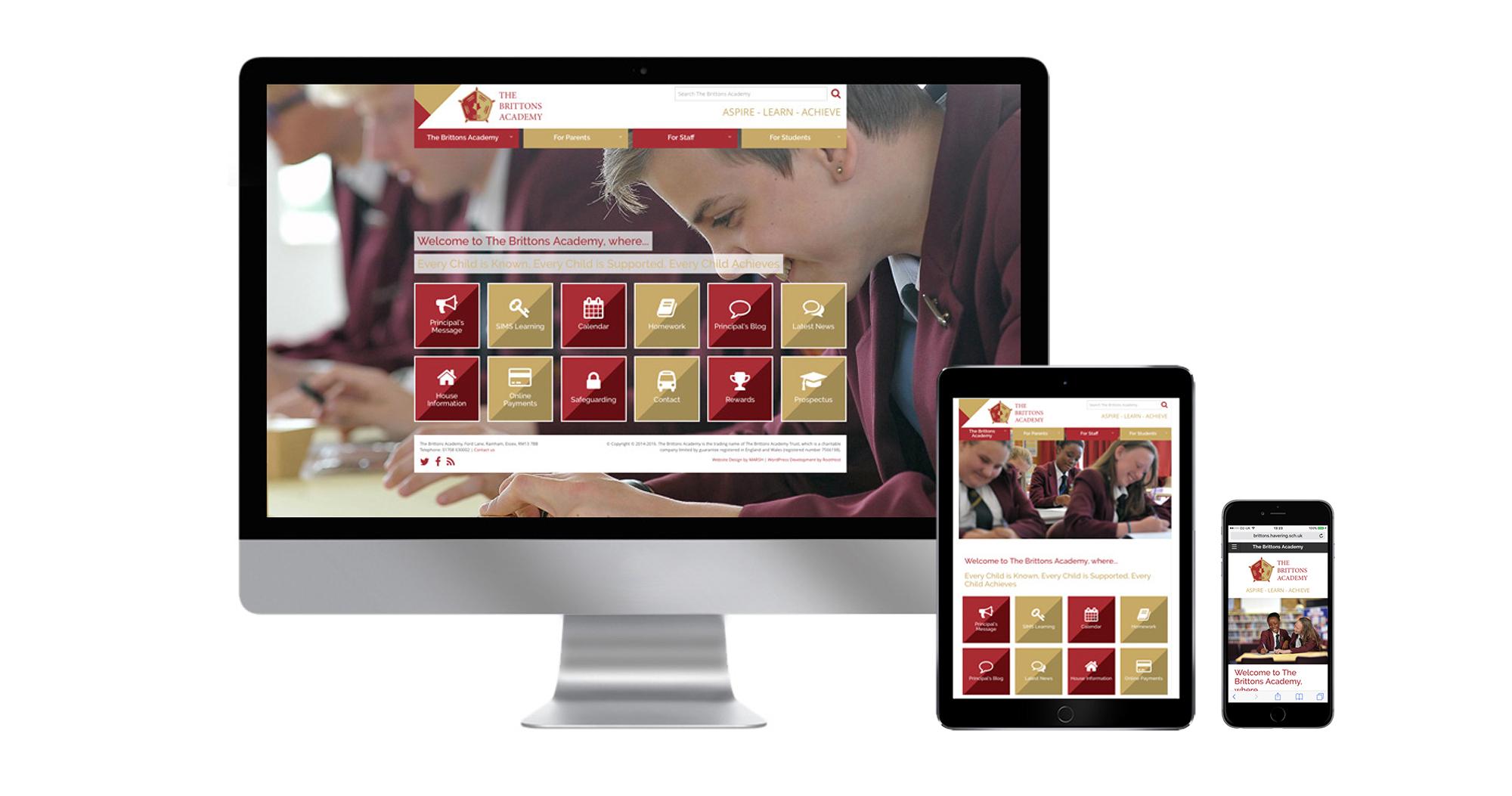 Brittons Academy Website