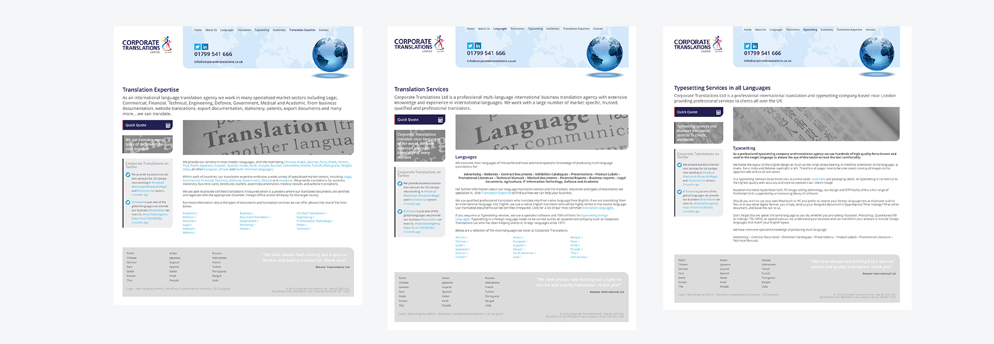Corporate Translations Website