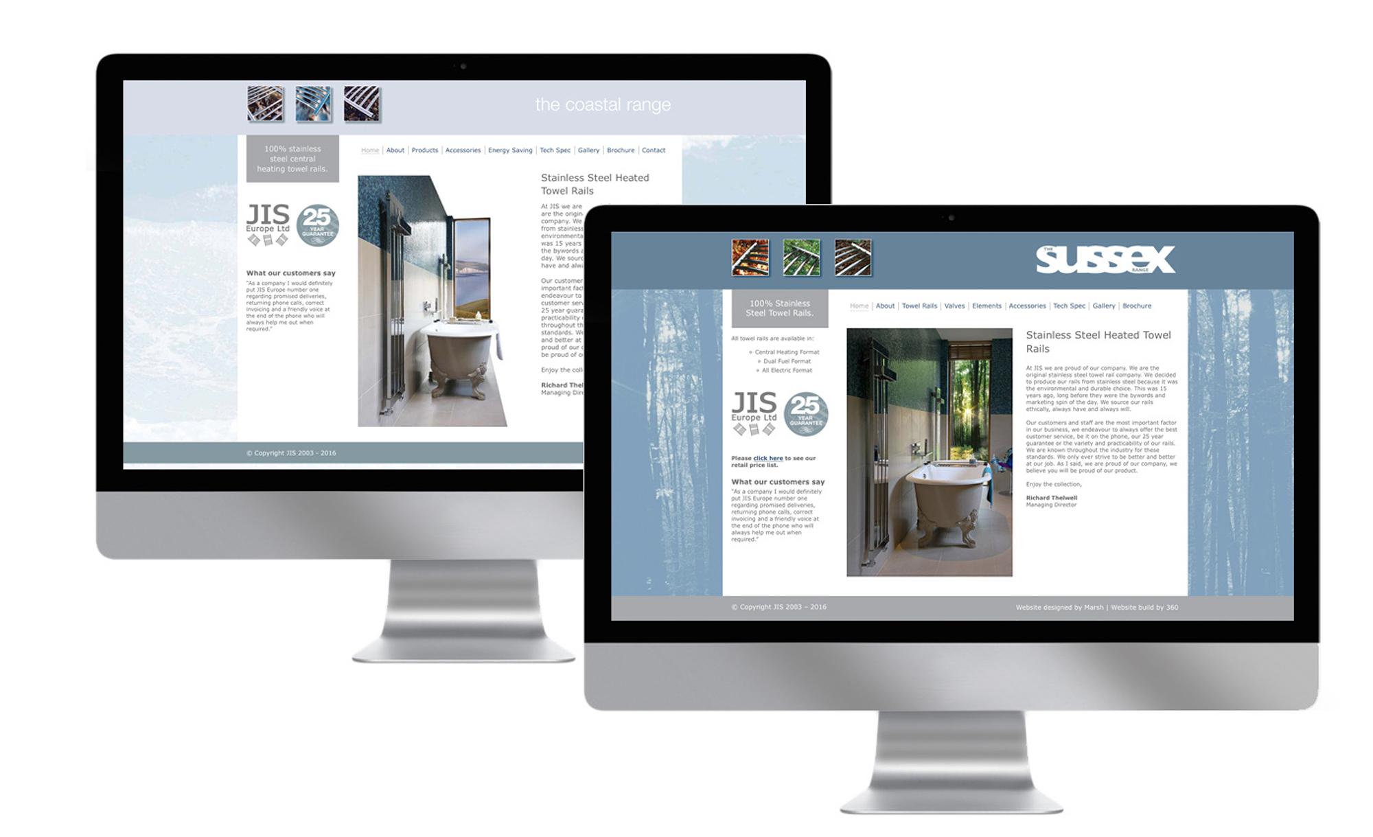 JIS Sussex Range Website