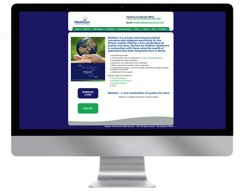 Medistar Insurance Website