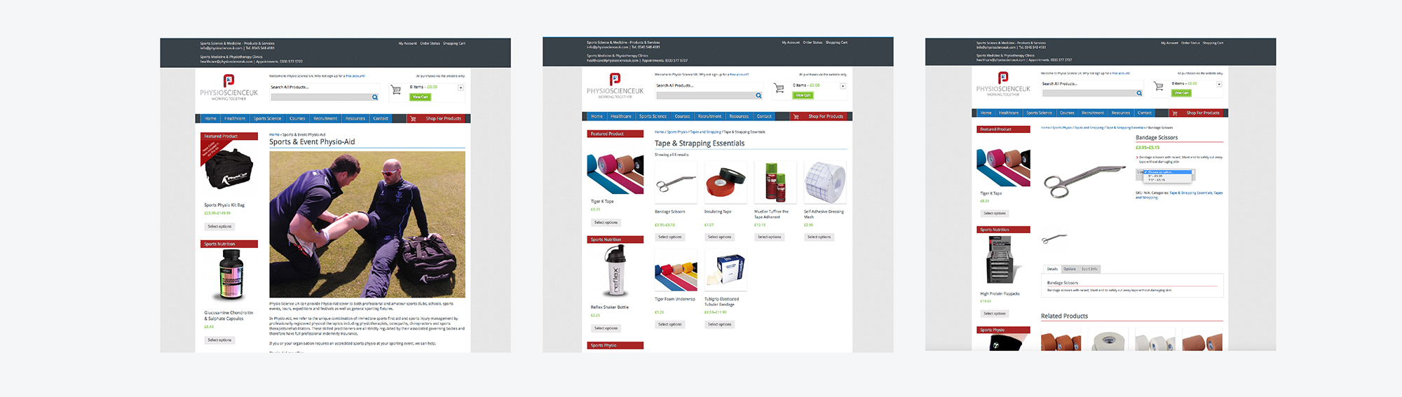 PhysioscienceUK Website
