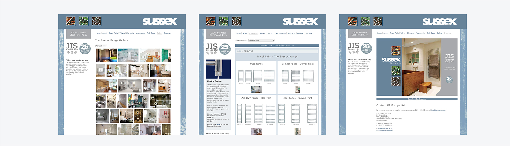 Sussex Range Website